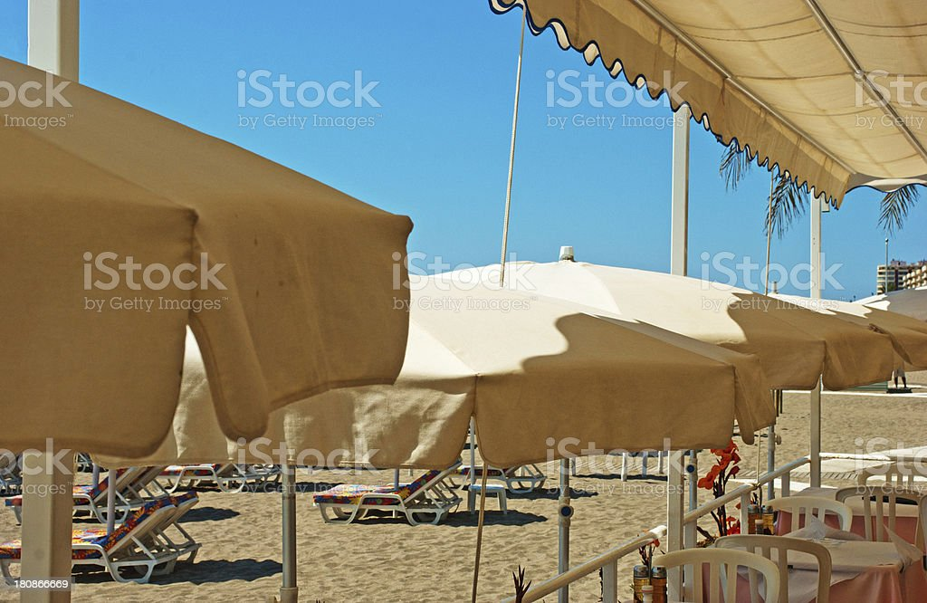 Fuengirola beach cafe royalty-free stock photo