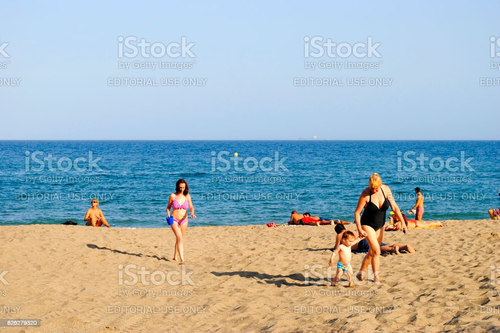 b057ef282e83db Fuengirola Beach Costa Del Sol Stock Photo & More Pictures of Adult ...