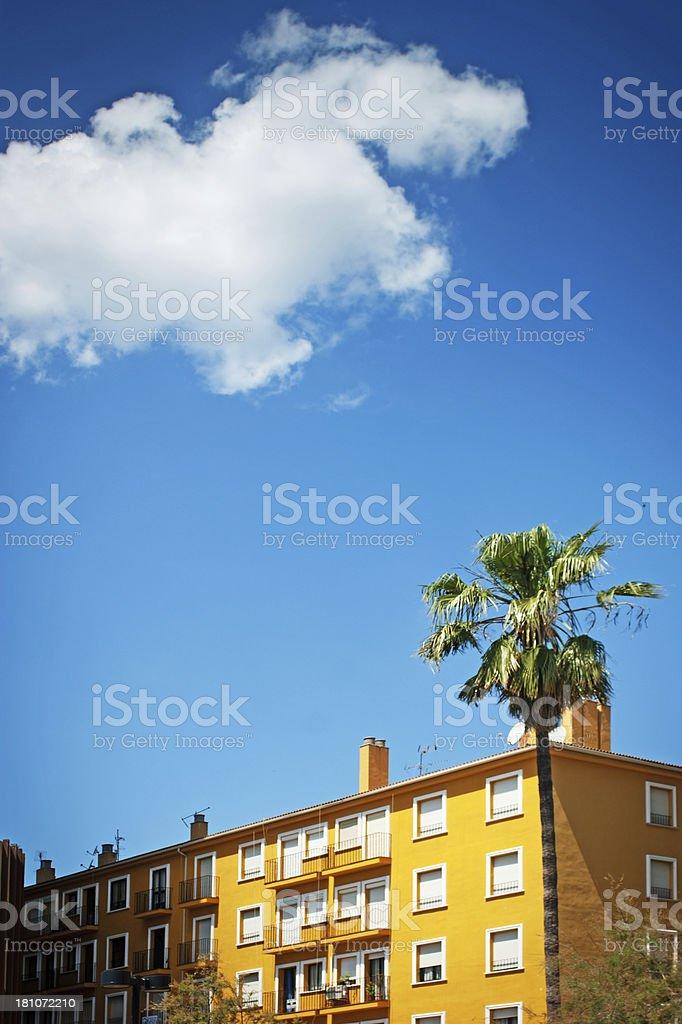 Fuengirola seafront hotel royalty-free stock photo