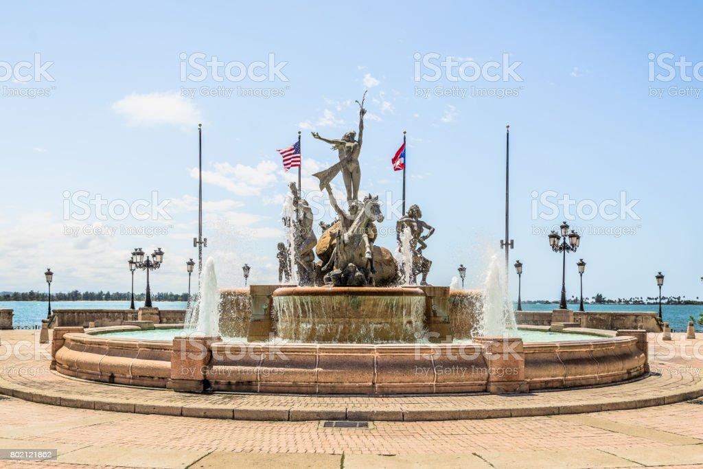 Fuente Raices Fountain - Paseo de la Princesa Puerto Rico stock photo