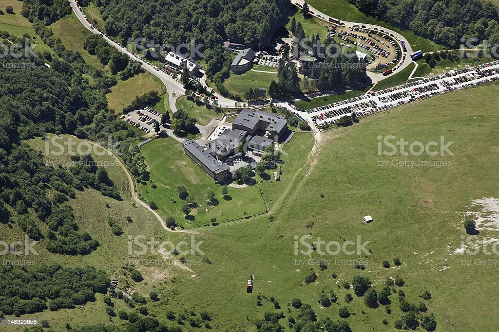 Fuentede cable car view royalty-free stock photo