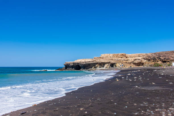 Fuerteventura, Canary Islands - Ajuy beach stock photo