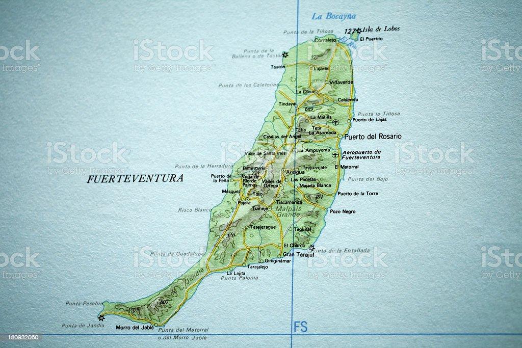 Fuerteventura Vintage Map stock photo 180932060 iStock