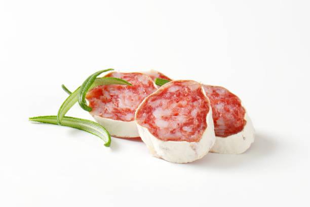 fuet - butifarra de jamón seco - fuet sausages fotografías e imágenes de stock