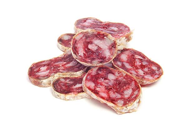 salame español fuet, típico - fuet sausages fotografías e imágenes de stock