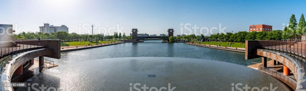 Fuganungakansui Park in Toyama stock photo