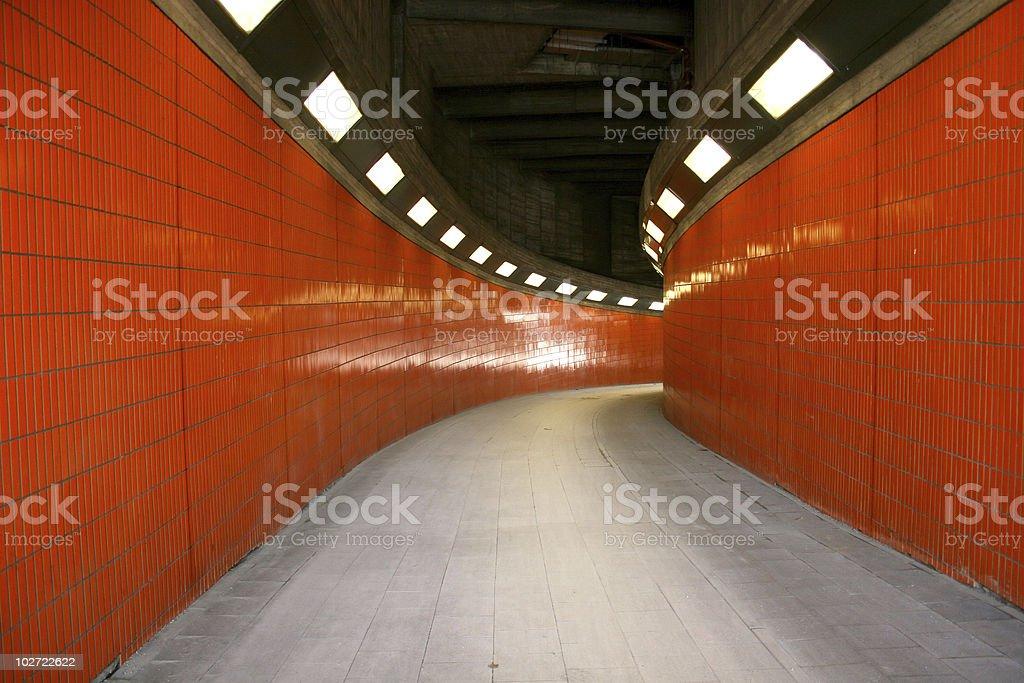 Fußgängertunnel zwischen ICC und Westkreuz in Berlin stock photo