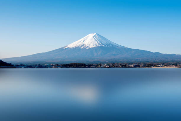 Fuji mountain landsapce. Travel and sightseeing in Japan on holiday. Fuji mountain landsapce. Travel and sightseeing in Japan on holiday. lake kawaguchi stock pictures, royalty-free photos & images