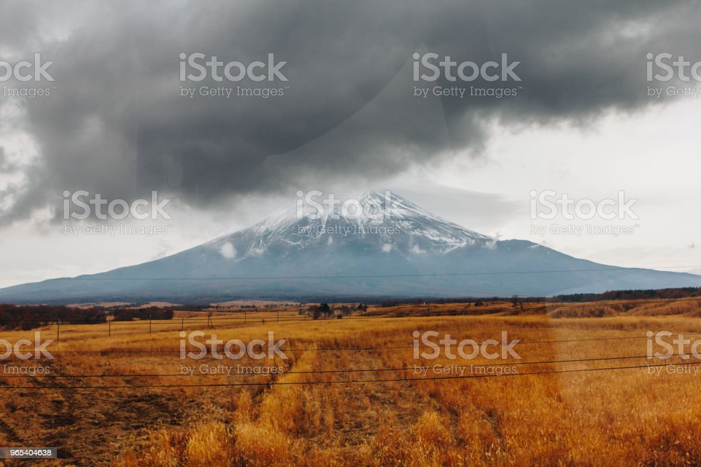Fujisan, Mount Fuji is the highest mountain in Japan with autumn season royalty-free stock photo