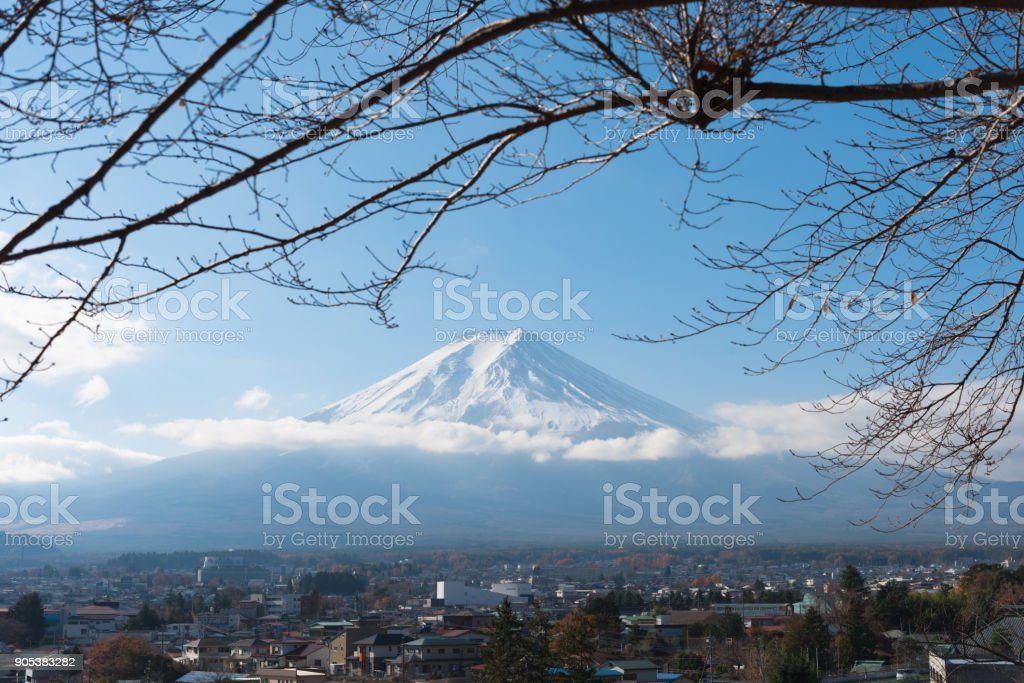 Fujisan (Fuji mountain) stock photo