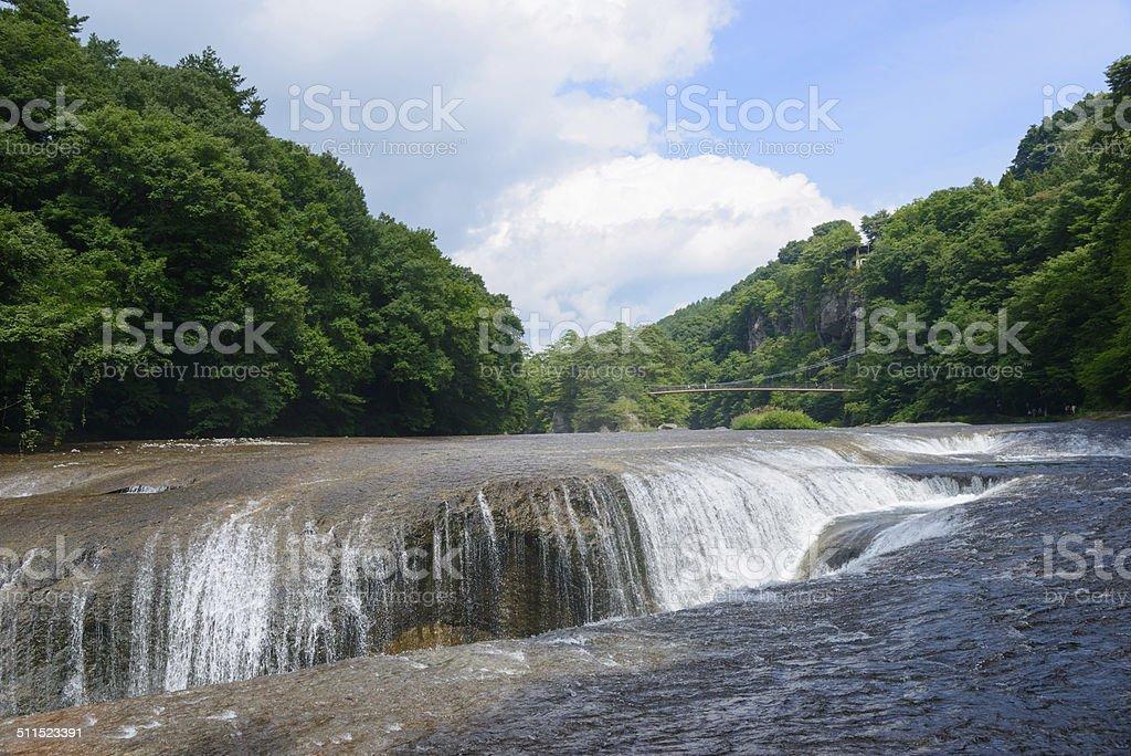 Fukiware Falls in Gunma, Japan stock photo