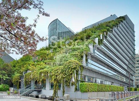 ACROS (Asian Crossroads Over the Sea) Fukuoka Prefectural International Hall at Tenjin Central Park, Fukuoka, Japan, 04-06-2015 Architect:  Emilio Ambasz
