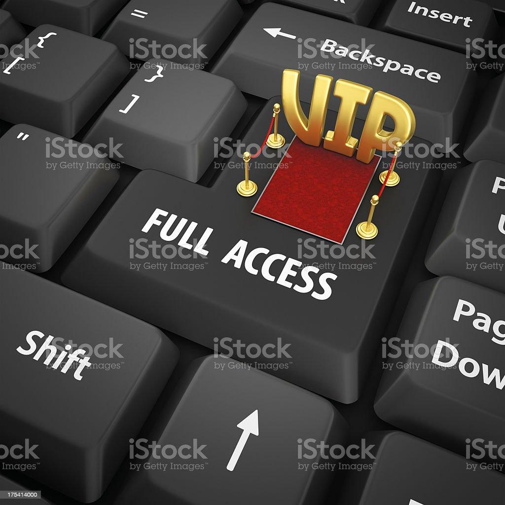 full access enter key royalty-free stock photo