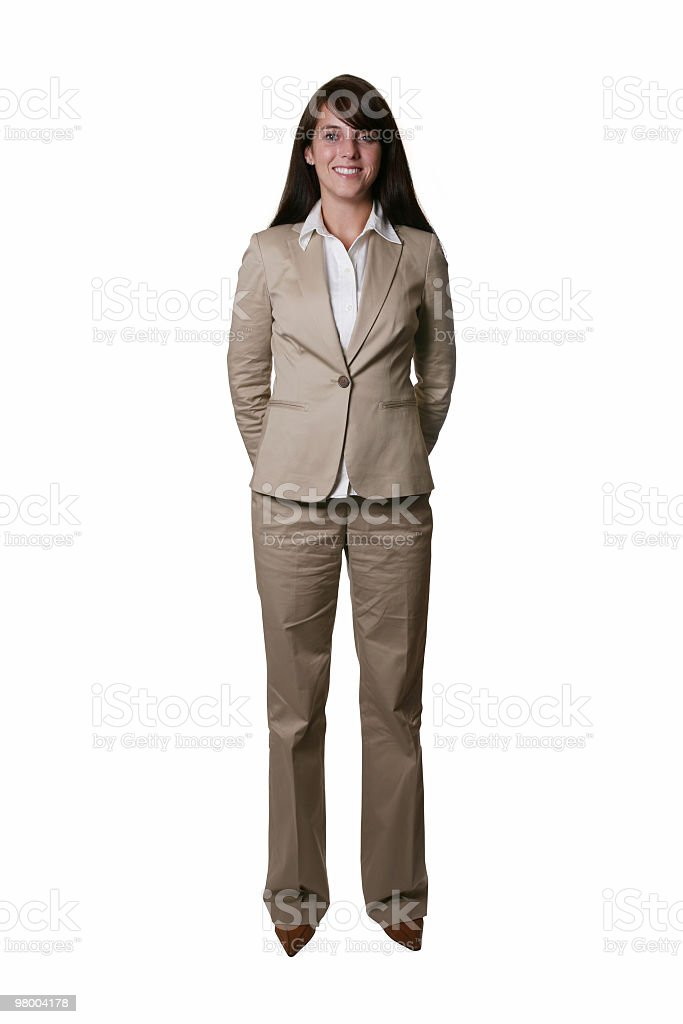 Full body businesswoman. royalty-free stock photo