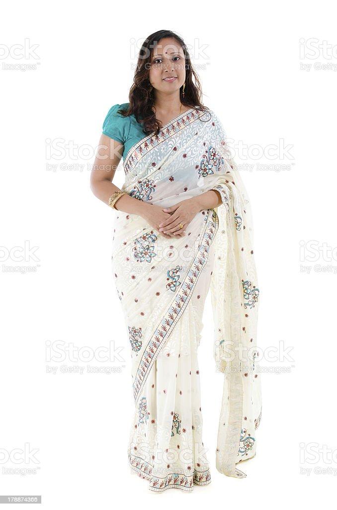 Full body Indian woman stock photo