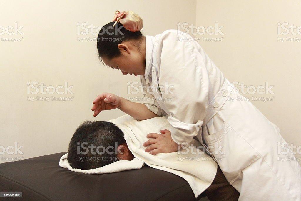 Full Body Massage royalty-free stock photo
