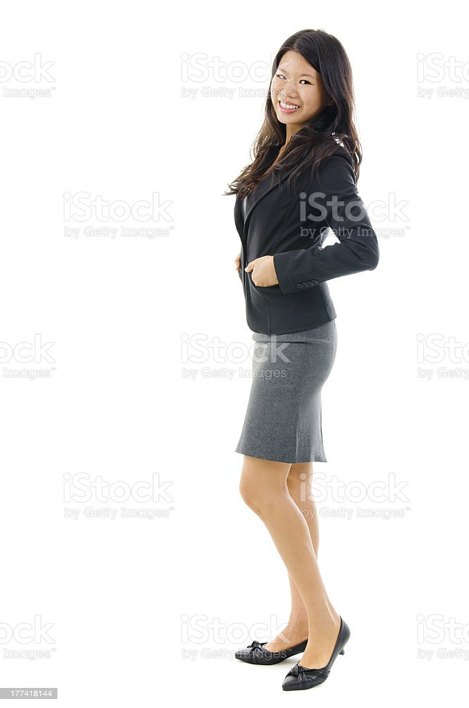 Full body of Asian female royalty-free stock photo