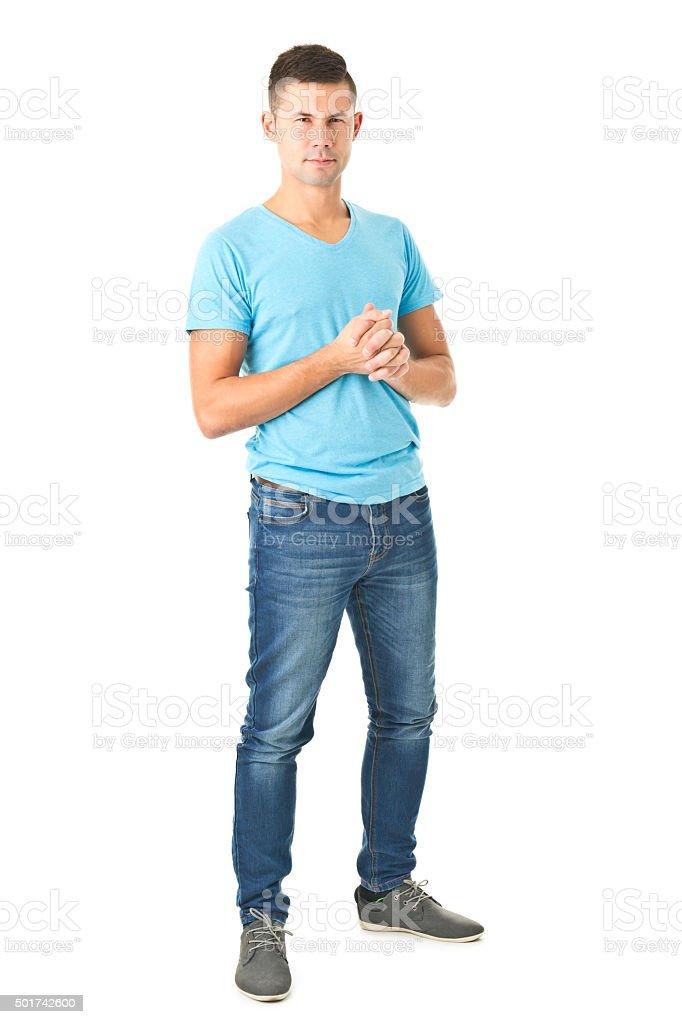 Ganzkörperbild Von Jungen Gut Aussehender Mann Stockfoto