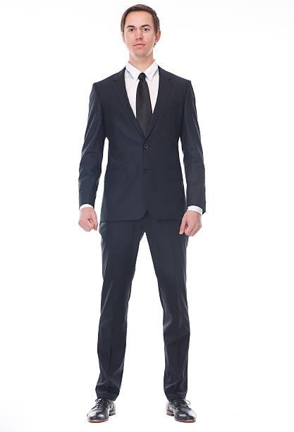 全身のビジネスマンの肖像画 - 正面から見た図 ストックフォトと画像