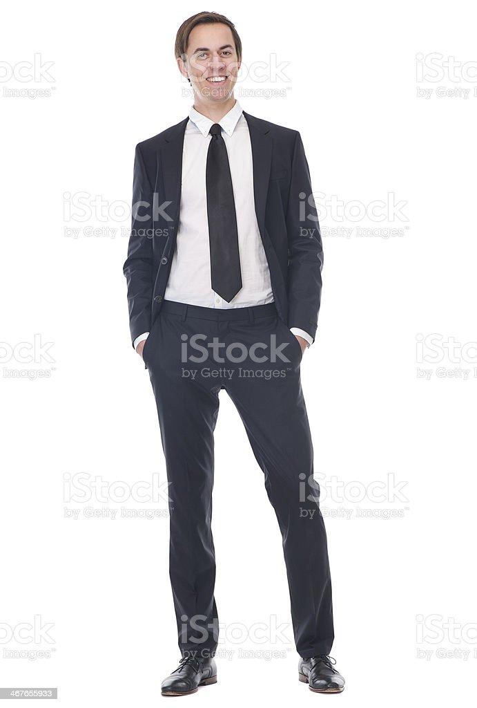 Cuerpo completo de feliz Retrato de un hombre de negocios foto de stock  libre de derechos 6203cd8972b