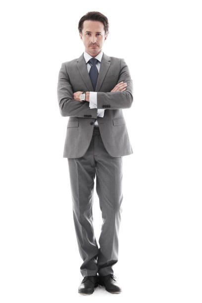 Ganzkörper-Porträt der Geschäftsmann – Foto