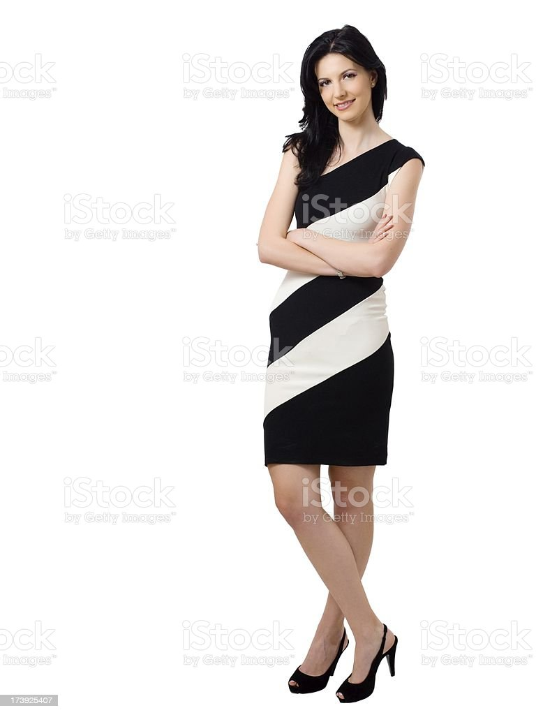 Full body view of confident young woman royalty-free stock photo