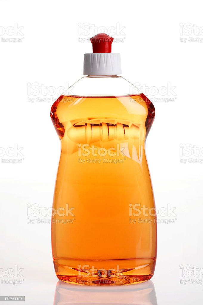 Geschirrspül- liquid Lizenzfreies stock-foto