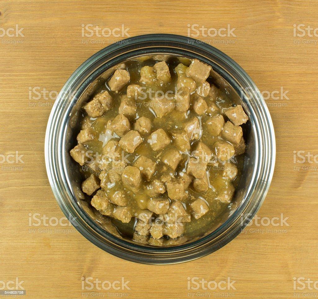 Full Bowl of Dog Food stock photo