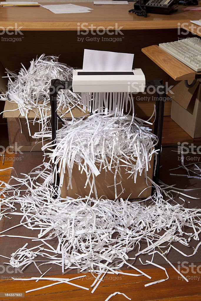 Full Boxes of Shredded Paper royalty-free stock photo