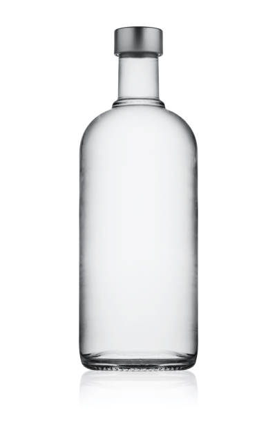 Full closed bottle of vodka Full closed bottle of vodka isolated on white background vodka stock pictures, royalty-free photos & images