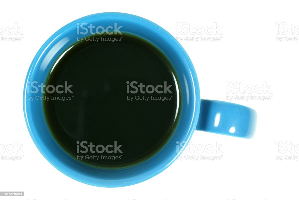 full cup of coffee on white stock photo