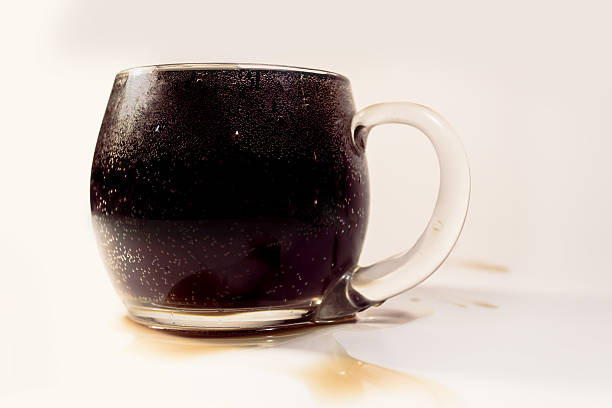 Full cup of soda stock photo