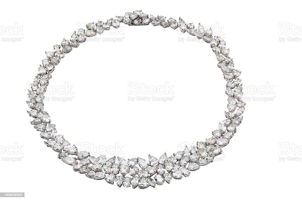 Full Diamond Necklace stock photo