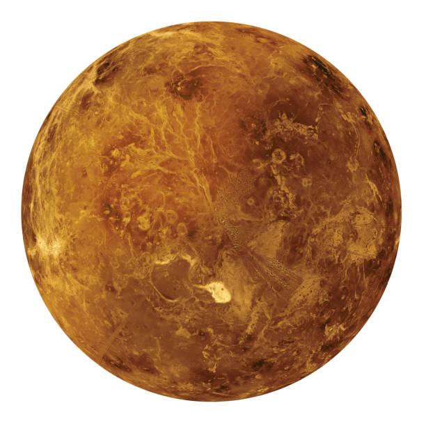 plein disque de planète vénus globe de l'espace isolé sur fond blanc. éléments de cette image fournis par la nasa. - venus photos et images de collection