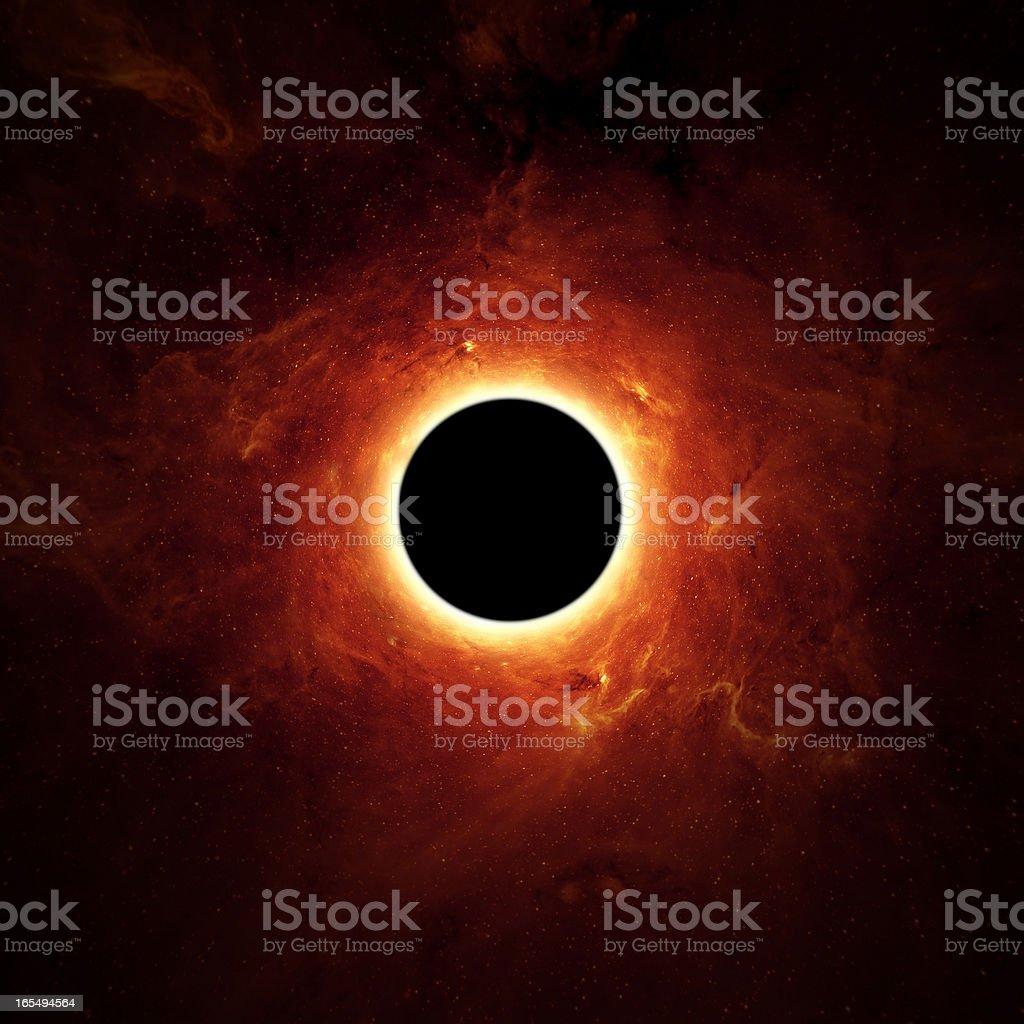 Full eclipse, black hole royalty-free stock photo