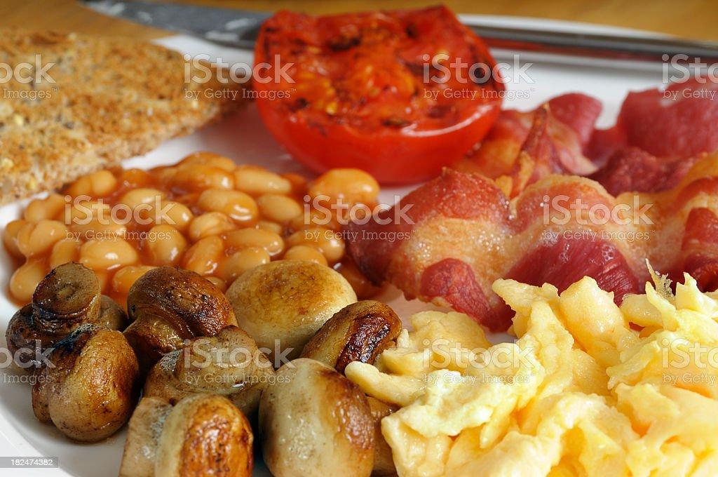 Full English Breakfast - close view royalty-free stock photo