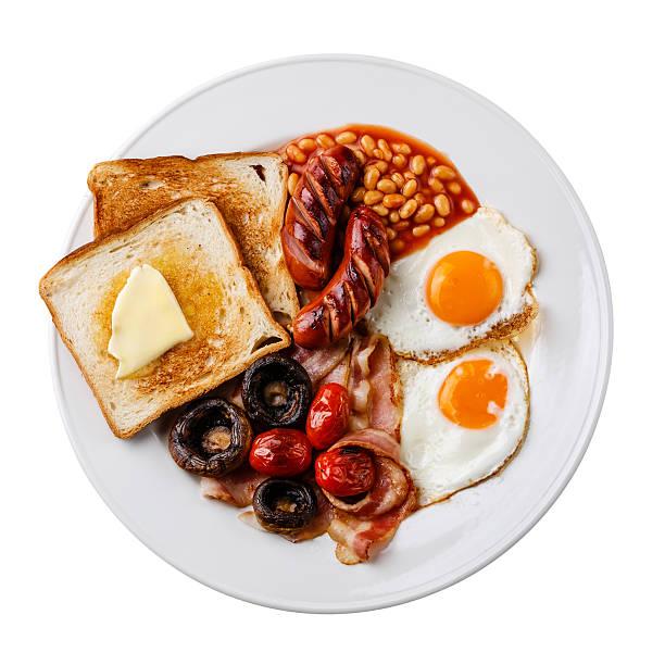 Full English Breakfast isolate stock photo