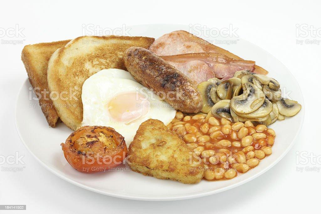 Full English breakfast plate royalty-free stock photo