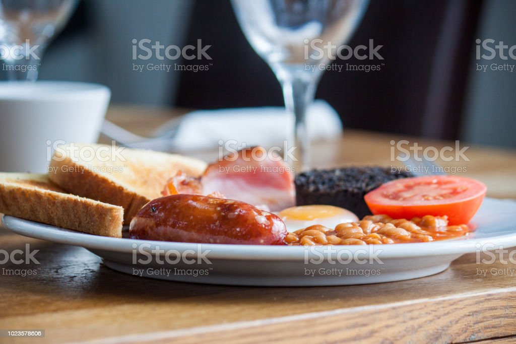 Full english breakfast with all the trimmings. stock photo
