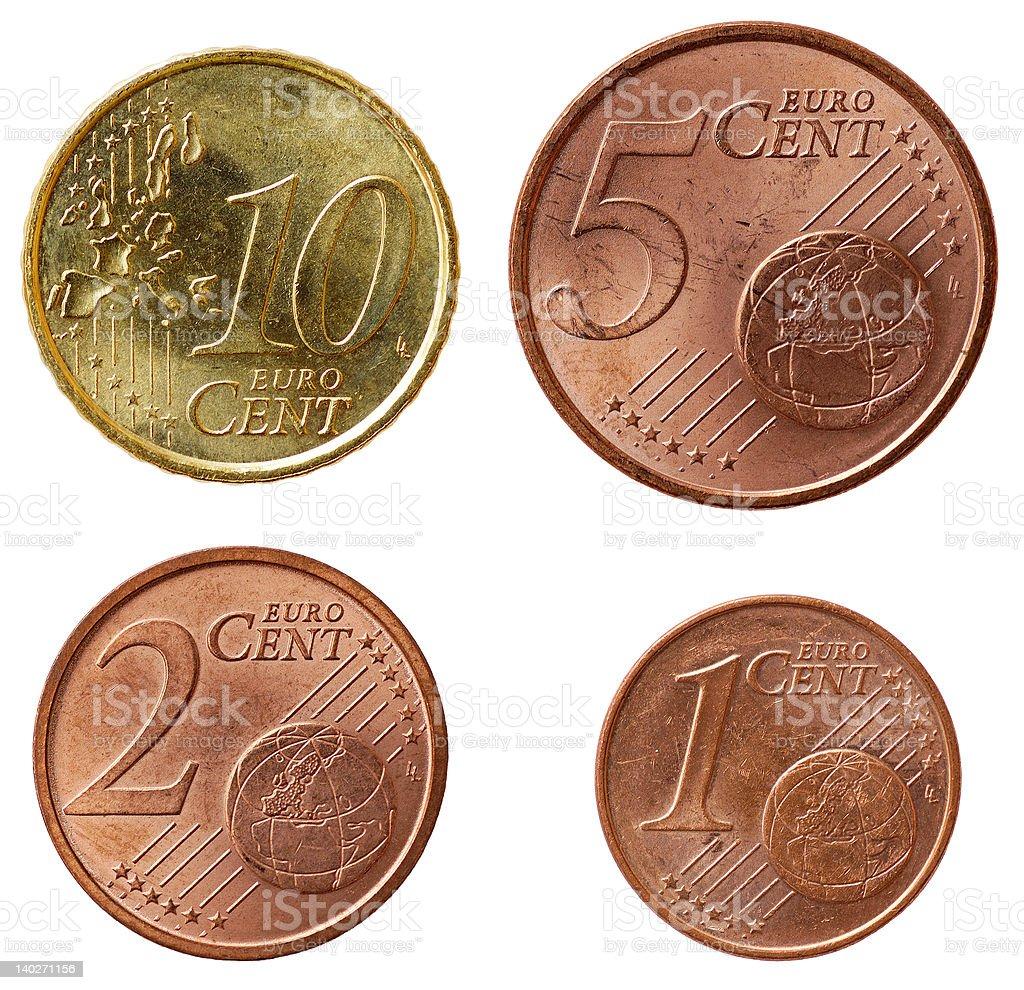 Full euro coins set - part 2 royalty-free stock photo