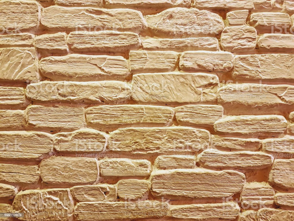 Full Frame Background Of Decorative Brick Wall Stock Photo & More ...