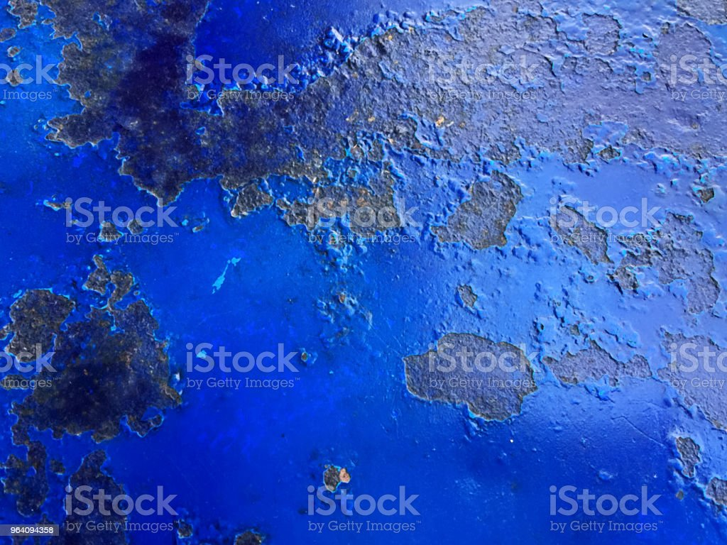 Full Frame Background Texture of Blue Rusty Table - Royalty-free Blue Stock Photo