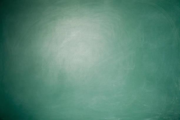Full Frame Blank Green Blackboard Background With vignette around stock photo