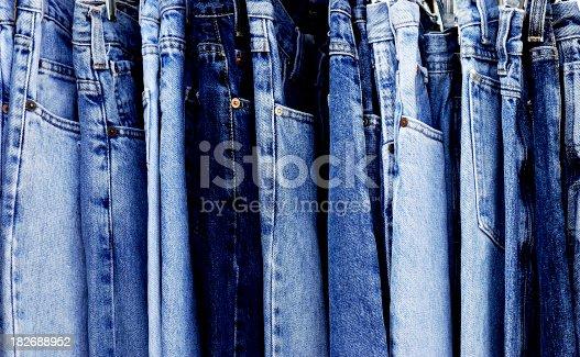 istock Full Frame Blue Denim Jeans 182688952