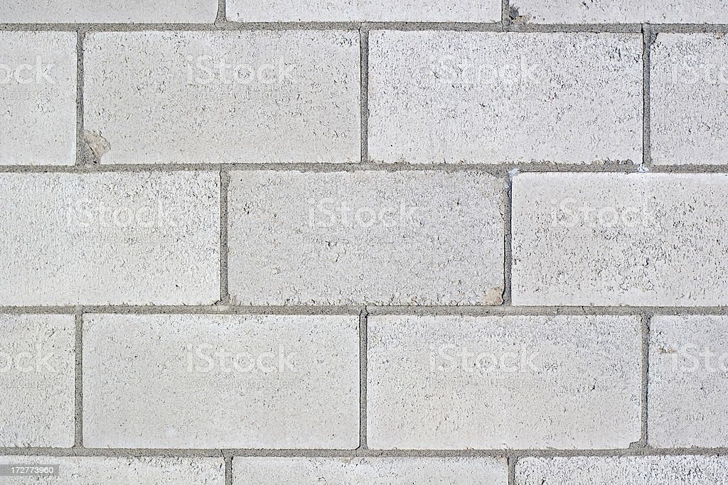 Full Frame Cinder Block Brick Wall with Rough Texture royalty-free stock photo
