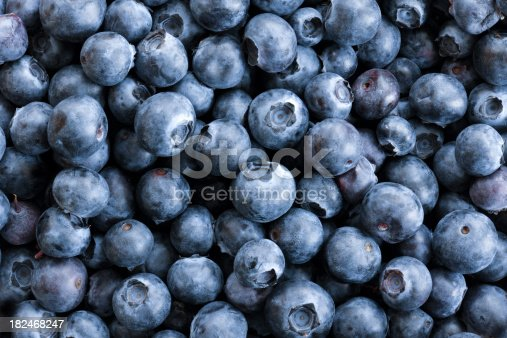 istock Full frame Close up Background Blueberries, Large Group of Objects 182468247