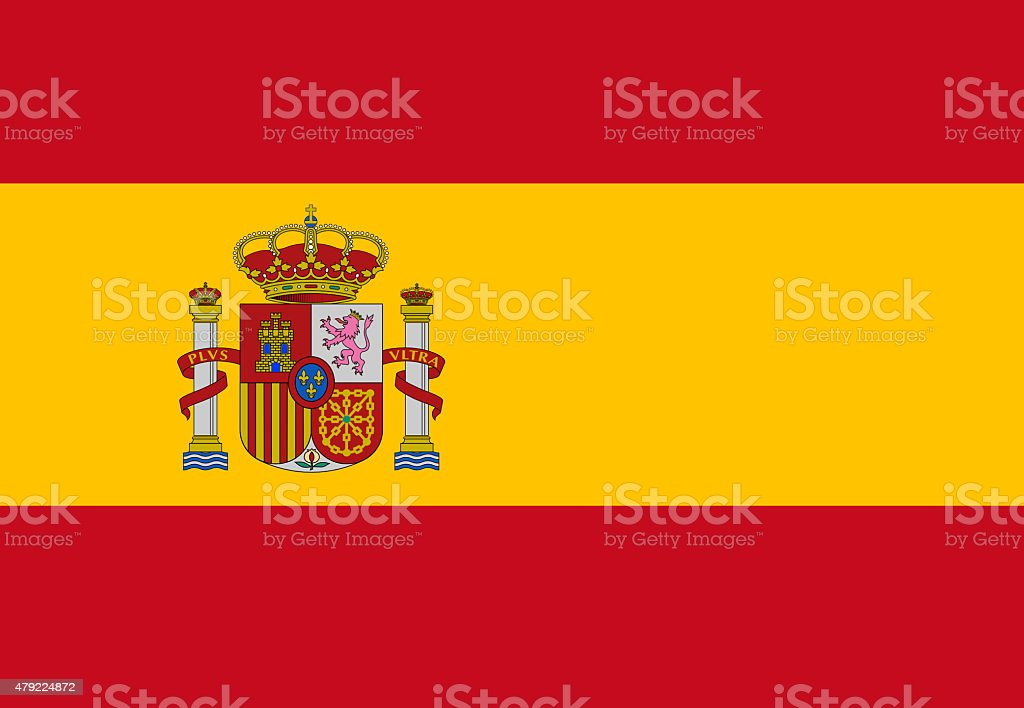 Full frame flag of Spain flag stock photo