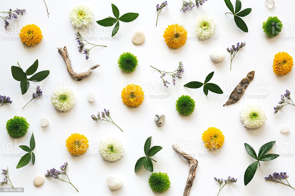 Full Frame Floral Pattern stock photo