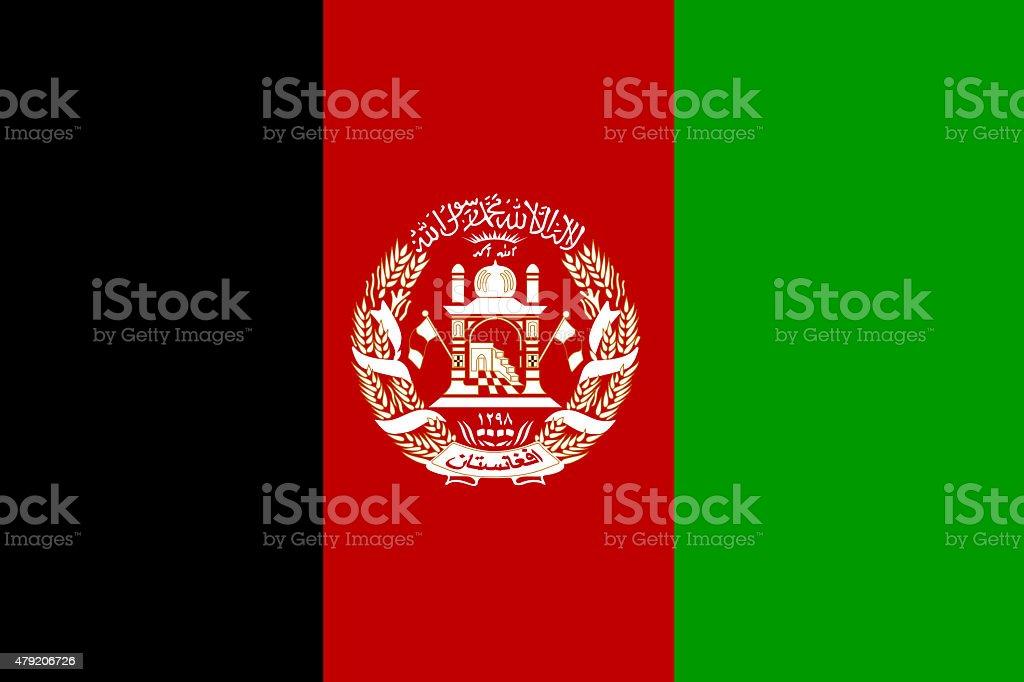 Full frame image of Afghanistan flag stock photo