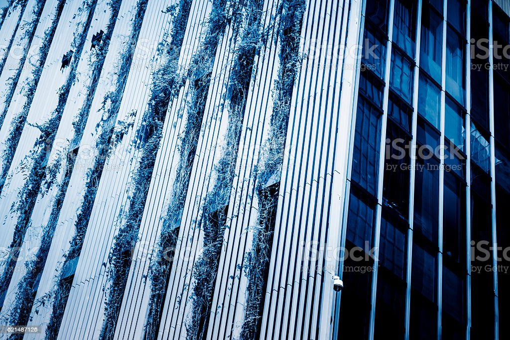 full frame of modern building wall pattern foto stock royalty-free